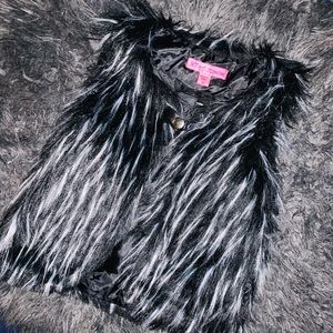 Toddler Girls Betsey Johnson Fur Vest